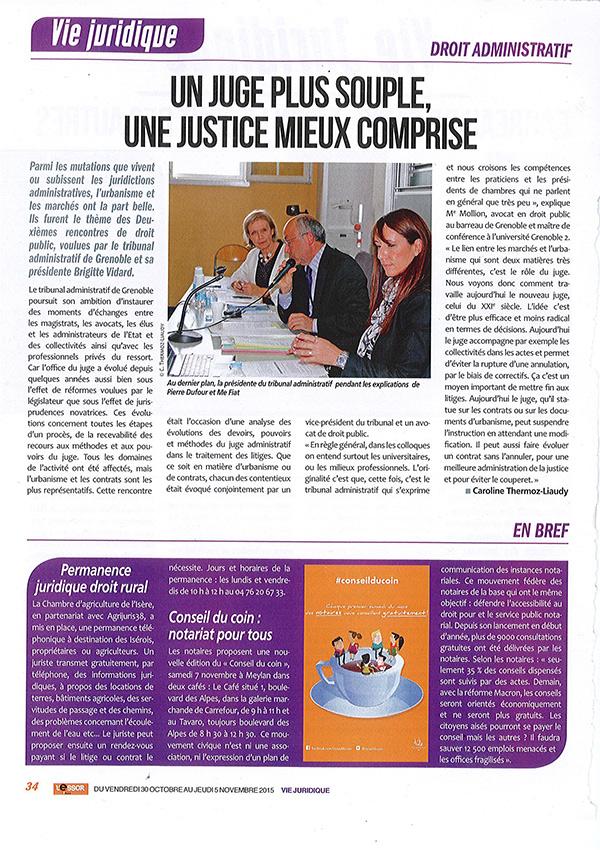 ARTICLE-VIE-JURIDIQUE-12 Novembre 2015