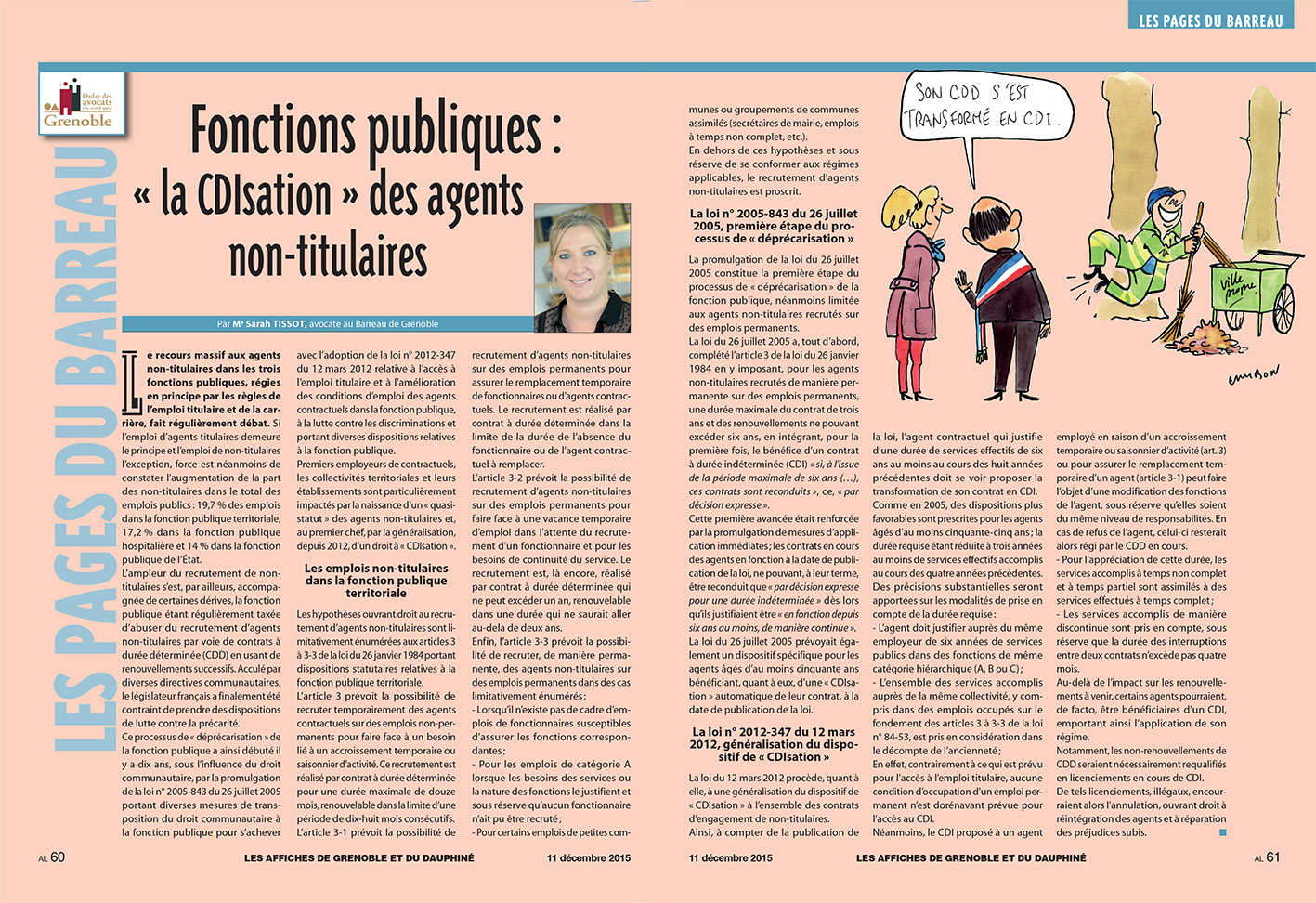 """Les affiches - Fonctions publiques :  """"la CDIsation"""" des agents non- titulaires"""